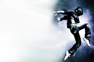 dancing digital art artwork dancer jumping