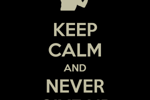 dark black keep calm and...