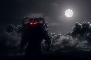 dark clouds red moon moonlight video games prince of persia: warrior within dahaka red eyes