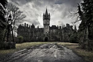 dark fantasy art castle