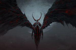 dark fantasy art death destruction artwork angel demon