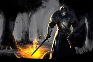 dark souls ii fantasy art sword dark souls iii dark souls video games forest fire