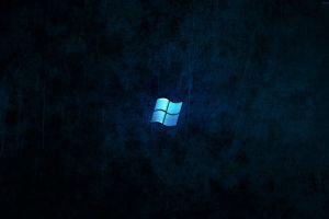 dark windows 7 windows 10 logo grunge digital art blue microsoft windows