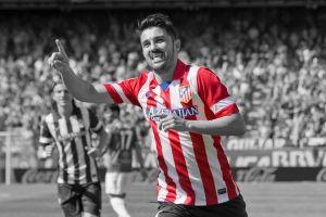 david villa soccer men sport  selective coloring atletico madrid