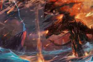 deathwing video games world of warcraft: cataclysm dragon thrall