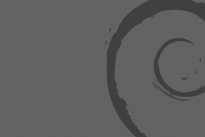 debian dark linux simple minimalism gray monochrome