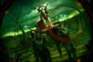 demon forest fantasy art artwork fantasy girl digital art