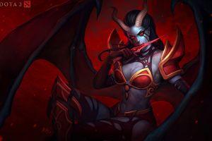 demon girls dota 2 dota horns succubus fantasy girl