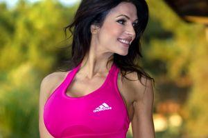 denise milani women big boobs boobs smiling women outdoors