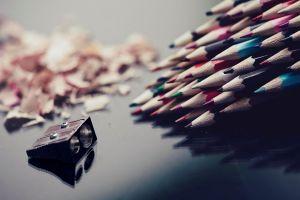 depth of field macro pencils