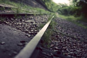 depth of field railway rock