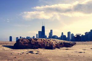 desert cityscape chicago skyscraper