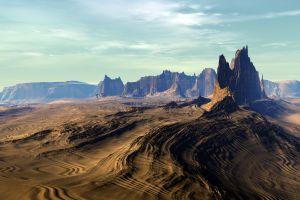desert nature badlands national park south dakota landscape