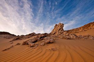 desert nature sky landscape rock