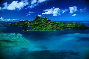 deserted island island nature sea