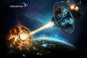 destruction digital art spaceship
