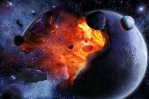 destruction space art digital art apocalyptic planet