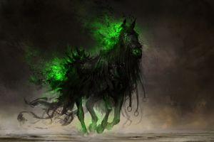 deviantart digital art apocalyptic horse fantasy art drawing