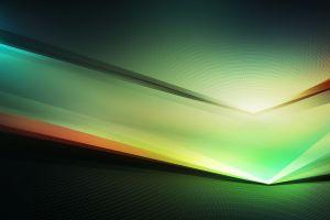 digital art abstract green