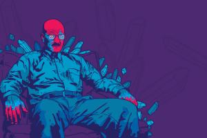 digital art artwork abstract walter white purple background breaking bad jared nickerson