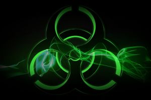 digital art artwork biohazard shapes