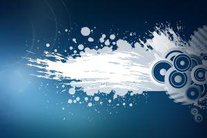 digital art artwork blue