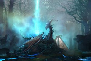 digital art artwork dragon fantasy art