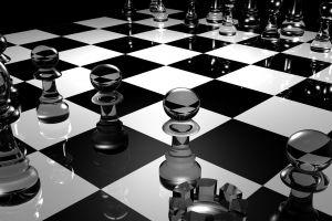 digital art chess cgi reflection glass render