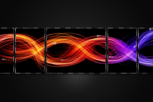 digital art colorful abstract waveforms