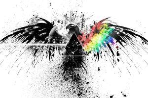 digital art colorful eagle