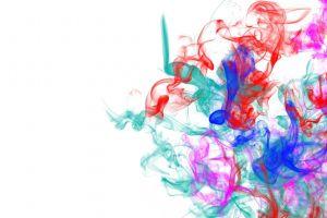 digital art colorful smoke