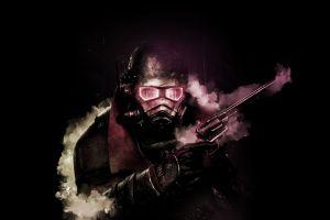 digital art fallout obsidian video game art dark smoke apocalyptic gun video games fallout: new vegas