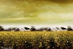 digital art field landscape