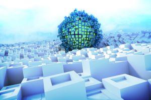 digital art geometry artwork cgi abstract sphere balls