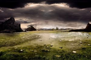 digital art landscape fantasy art