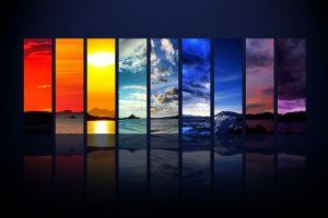 digital art landscape photoshop rainbows