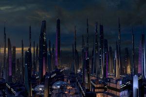 digital art mass effect 2 mass effect futuristic city concept art artwork mass effect 2 futuristic asari