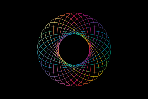 digital art minimalism simple background colorful