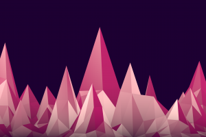 digital art mountains low poly violet geometry minimalism simple background pink