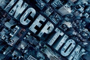 digital art movies typography city inception aerial view skyscraper