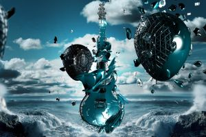 digital art music guitar fantasy art