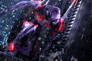 digital art neon genesis evangelion render anime cgi
