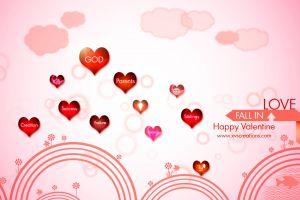 digital art pink background heart (design)