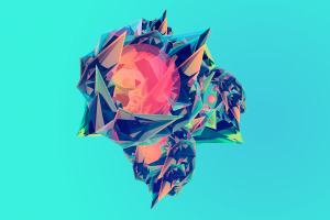 digital art pink justin maller cyan background blue abstract cyan
