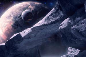 digital art planet qauz space space art