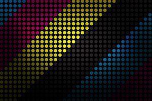 digital art polka dots pattern artwork cmyk
