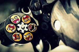 digital art revolver awesome face gun ammunition weapon smiley