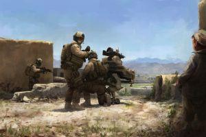 digital art soldier military war artwork