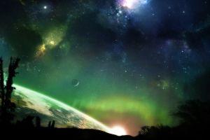 digital art space fantasy art space art stars planet sky
