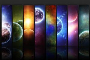digital art space space art colorful planet